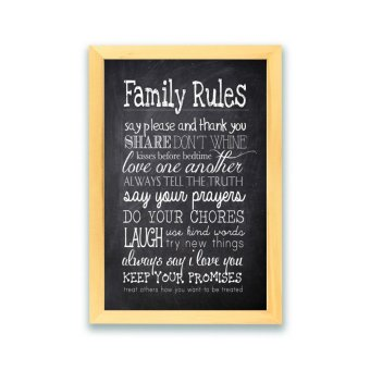 Frame Motivasi Do All Things With Kindness A53 Putih. Source · Frame Motivasi Famili Rules