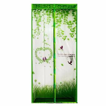 Harga Tirai Magnet Anti Nyamuk Motif Love Bird Magic Mesh
