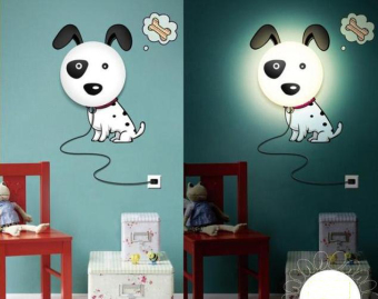 Harga ON THE WAY Novelty Cartoon Dalmatians Dog DIY 3D Wallpaper Wall Stickers Home Room Decor Decoration LED Night Light Lamp for Kids' Bedroom - intl