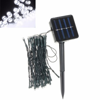 Harga Cool White Outdoor Solar Powered 50 LED Fairy String Light Yard Garden Path Chirstmas Lamp - intl