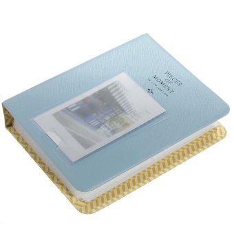 Harga Baru 64 saku Polaroid Case Album foto untuk fujiFilm Instax Mini Film ukuran biru