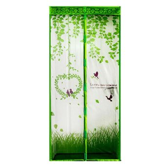 Harga Magic Mesh Tirai Magnet Anti Nyamuk Motif Love -Hijau