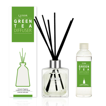 Harga Luxor Aroma Reed Diffuser Green Tea 200ml Bottle + 200ml Refill + 5 Reed Sticks