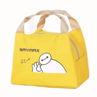 Harga Baymax Lunch Bag Bonus 1pcs Jelly Ice Cooler / Cooler Piknik Bag / Kantong Pendingin Makanan - Kuning