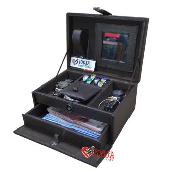Jogja Craft Full Brown Jewelry Box / Tempat Perhiasan / Kotak Perhiasan dan Accesories - Coklat
