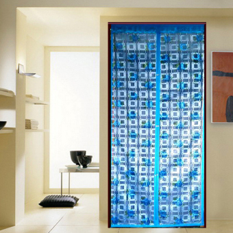 Jojo Tirai Pintu Magnet [X] - Biru Mawar Kotak