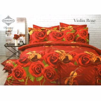Kendra Signature Sprei Set Violin Rose Single Size 120x200