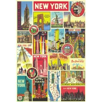 Kertas Kado Besar Vintage New York