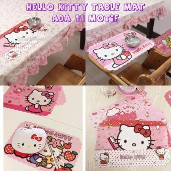 Kn002 Alas Meja Makan Piring Hello Kitty Table Mat Tatakan Piring - Fzjvxc