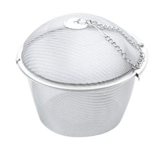 Kobwa Extra Large Stainless Steel Twist Lock Mesh Tea Ball Tea Infuser With Hook Chain -