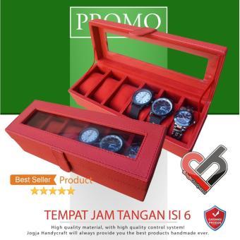 Kotak Tempat Jam Tangan Isi 6 - Watch Box Organizer