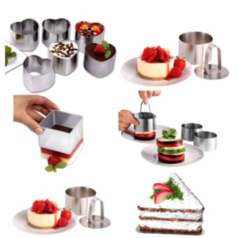 Kuhong Stainless Steel Cake Ring Mold Biscuit Pastry Cookie CutterMould New - intl