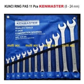 KUNCI RING PAS 11 Pcs KENMASTER 8mm - 24mm