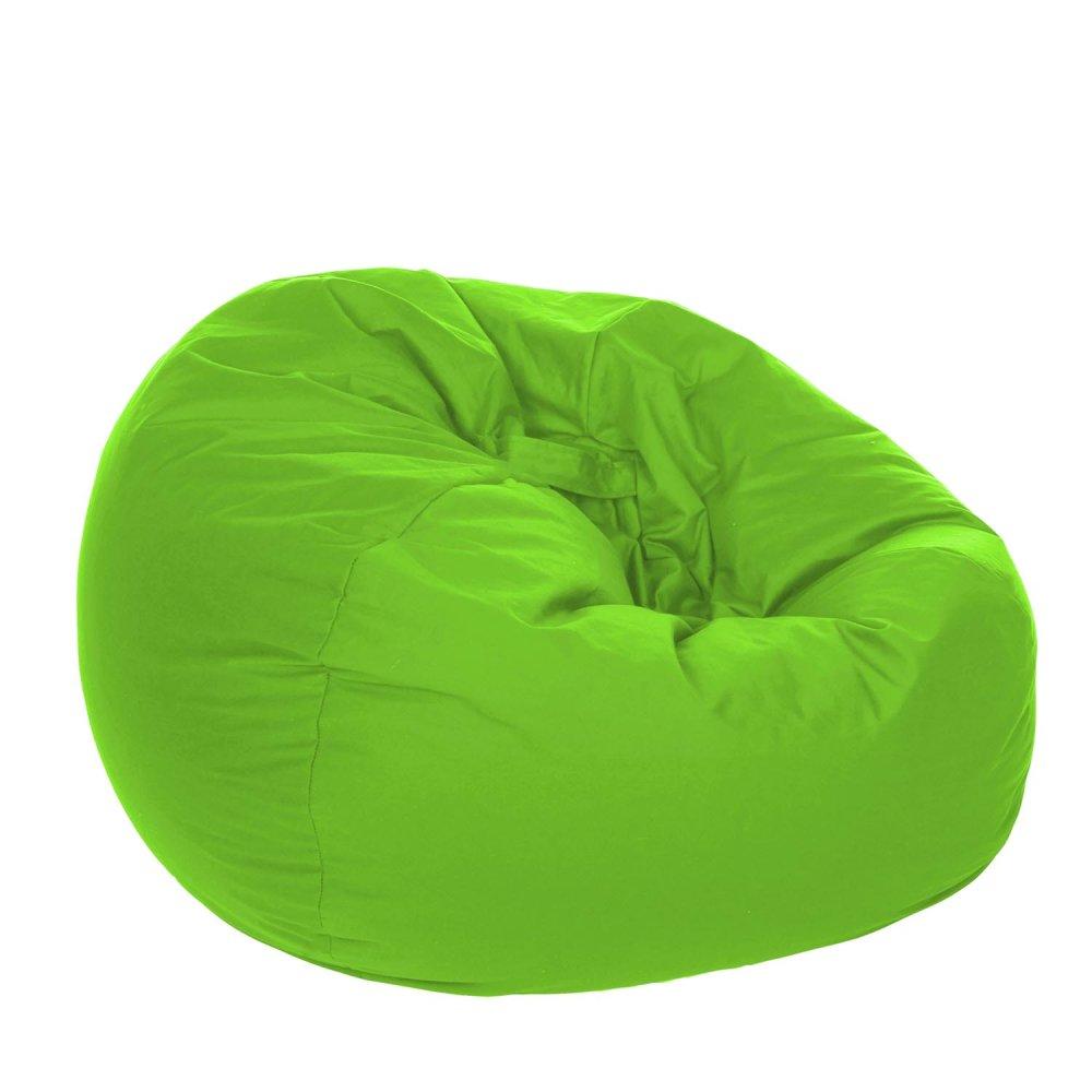 kursi santai bean bag oval – lime (cover only) / kursi pantai / furniture