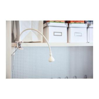 Lampu Baca Sorot Jepit LED IKEA JANSJO Dinding Meja Gold Hitam Putih
