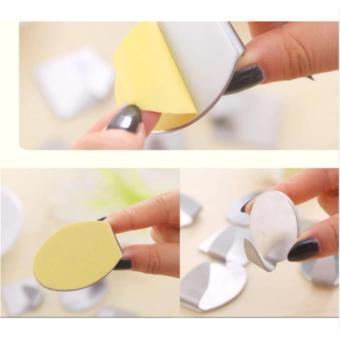 Lanjarjaya Gantungan bentuk Oval pakaian Hook dinding pintu pemegang dapur kamar mandi handuk (1 Set