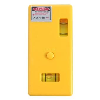 Tingkat Laser Magnetic Ukuran Benar Cross Garis Vertikal Infrared Pengukuran Alat Kuning