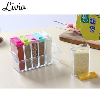 Livia Rak Bumbu 6 in 1 - Tempat Bumbu Seasoning Box Serbaguna -
