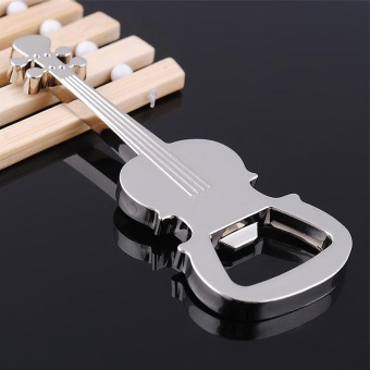 Moonar New Silver Metal Eco Friendly Violin Bottle Opener - intl
