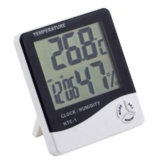 Multi-fungsi Wet Light Kamera LCD Digital Alarm Clock Kalender Karton Pak Hygrometer Thermometer Termometer