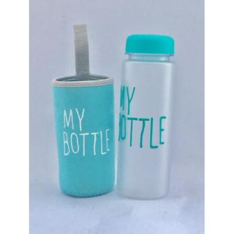 My Bottle DOFF Botol Minum 500ml - BIRU plus POUCH