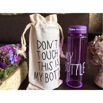 My Bottle NEW CLEAR Botol Warna Warni 500ml - UNGU plus TAS