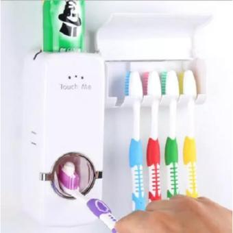 Neo Dispenser Odol Toothpaste Dispenser & Brush Set Putih