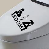 Baru Kursi Toilet Stiker Dinding Vinyl Art Dekorasi Kamar Mandi Yang Dapat Dilepas Dekorasi-Intl - 2