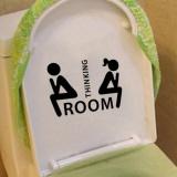 Baru Kursi Toilet Stiker Dinding Vinyl Art Dekorasi Kamar Mandi Yang Dapat Dilepas Dekorasi-Intl - 4