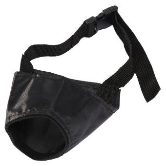 Nilon yang dapat anjing peliharaan perawatan masker mulut moncong hitam 3