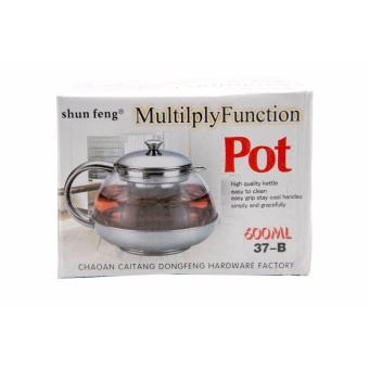 Elegan teko kaca tahan panas Infuser bunga Hijau Daun teh pot 750 ml. Source .