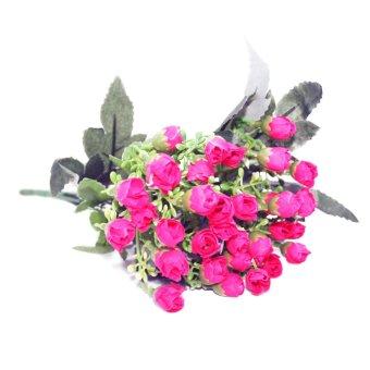 OHOME Kuncup Bunga Rose Artificial Hiasan Dekor Ruangan - AN-B000335 - Pink  Tua 47959a8430