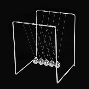 Pajangan Meja Pendulum Newton Stainless Steel Size S- Hiasan rumah - Silver