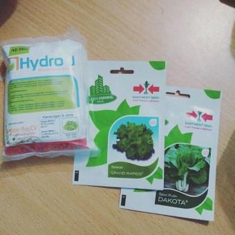 Paket 1 Nutrisi Hidroponik Dan 2 Benih ( Salada & Sawi ) + Panduan