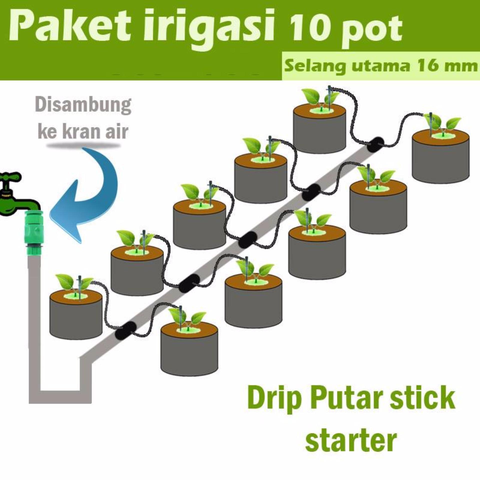 paket irigasi starter drip putar stick 16mm