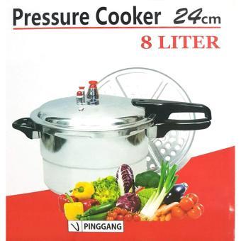 Harga Panci Presto 8 Liter + Steamer / Trisonic Pressure Cooker 24cm + kukus