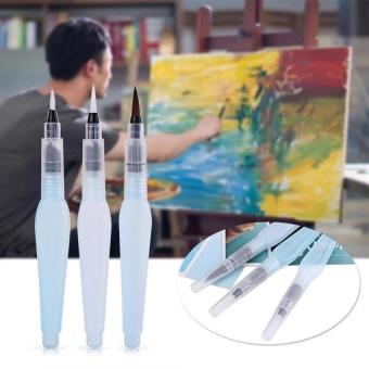 Panda Online 3 Pcs Refillable Sikat Air Pen Seni Kerajinan Alat Lukisan Cat Air Kaligrafi Tinta