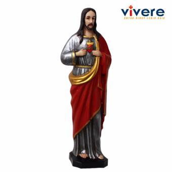 Patung Yesus Penuh Kasih Metalik 24 cm