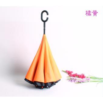 Payung Terbalik AITIA Gagang C Reverse Umbrella - Orange .