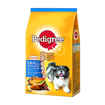 Pedigree Small Breed Chicken Liver Vegetable 1.5 Kg