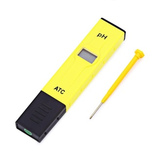 Harga PH - 2011 0.1 High Accuracy Pocket Size Pen Style PH Meter (Yellow)- intl