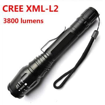 Rimas Phixton Senter LED Cree XM-L2 T6 3800 Lumens - Black / Hitam Senter