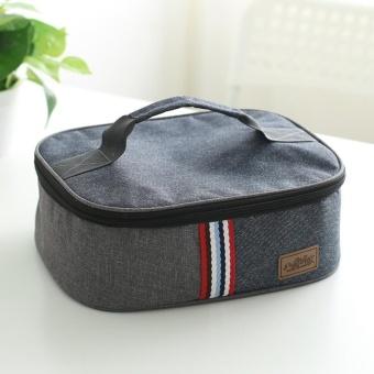 Portable Denim Tas Kotak Makan Tas Pendingin Panas Terisolasi Kid Bento Box Lunch Penyimpanan Tas Piknik