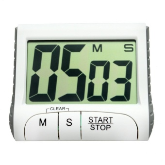 Review of Portable Digital Countdown Timer Clock Large LCD Screen Alarm for Kitchen .