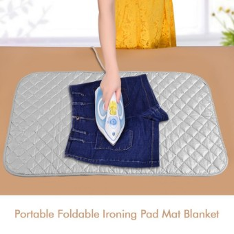 Portable Foldable Ironing Pad Mat Blanket For Table Top And Travelling  Useful Accessory   Intl