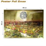 ... Poster foil emas jumbo Madinah #FOJU27 - 69 x 50 cm - 3 ...