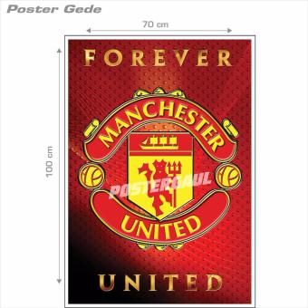 Poster Gede: Logo Manchester United #32B - 70 x 100 cm