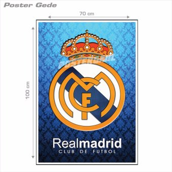 Poster Gede: Logo Real Madrid FC #31B - 70 x 100 cm