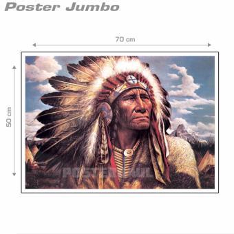 Poster Jumbo: Kepala Suku Indian - 50 x 70 cm