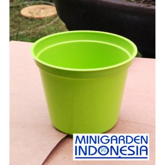 Pot Bunga 8 cm Pot Semai Bonsai Bibit Bisa Hidroponik Pilih Warna Isi 4 Pcs